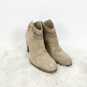 🍀Vince Camuto Beige Perforated Fetter Booties